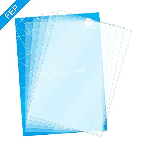 ANYCUBIC FEP Film, Teflon Film Ersatzblatt 200 x 140 x 0,15 (mm) für Photon Photon S LCD SLA resin 3D Drucker (5 pcs) Mm Lcd