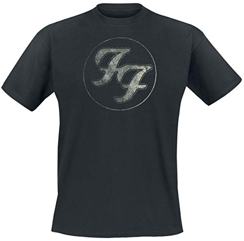 Foo fighters logo in circle t-shirt nero l