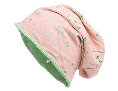 Shenky - Bonnet effet déchiré - avec trous Beige/Vert