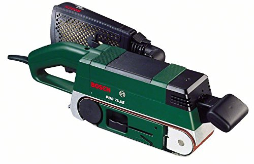 Bosch Bandschleifer PBS 75 AE Set (Schleifband, 2 Schraubzwingen, Parallel- und Winkelanschlag, Halter, Koffer, 750 Watt)