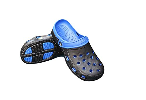 Ein Bißchen Herren Sommer Früling Outdoor Atmungsaktive casual Clogs Pantoletten Blau