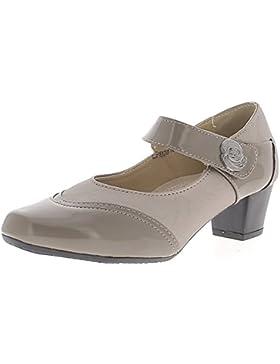Grigia scarpe con tacco piccolo confortevole 4.5 cm