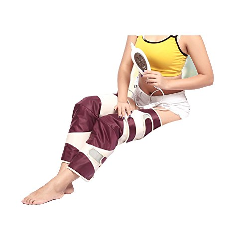 Bein-Massagegerät Schnürte Luft-Kompressions-Schenkel-Bein-Verpackungs-Massage-Therapie Mit Handprüfer (Massager Bein-luft)