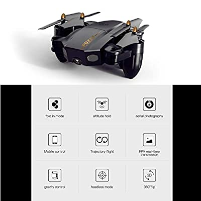 Mini four-axis drone, flying toy, six-axis gyroscope - headless mode remote control aircraft, 2 million high-definition camera, WIFI aerial fixed-height aircraft toy