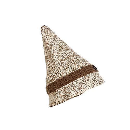 (Winter Strickmütze Woven-Hut Spitzen Hut für Halloween (Beige) 1 PC)
