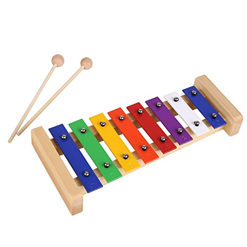 MVPOWER Xylophone Wooden Toy Musical Instrument Kid Toddler Educational Development Toy