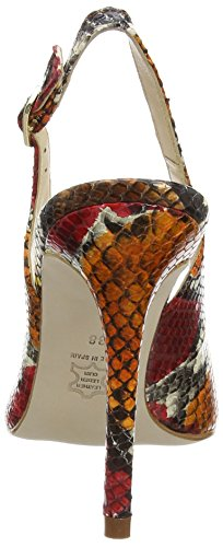 Paco Gil P3012 - Scarpe con Tacco Donna Multicolore (Mehrfarbig (Multi Rosso))