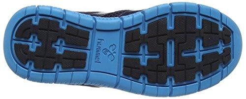 Hummel Hummel Crosslite, Chaussures indoor mixte adulte Gris - Grau (Graphite / Atomic Blue 1057)