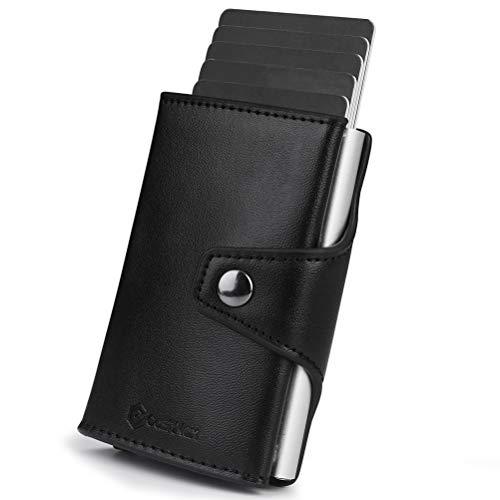 Porte Carte Crédit Automatique, Étui Protection Carte bancaire, CashNox Portefeuille Compact