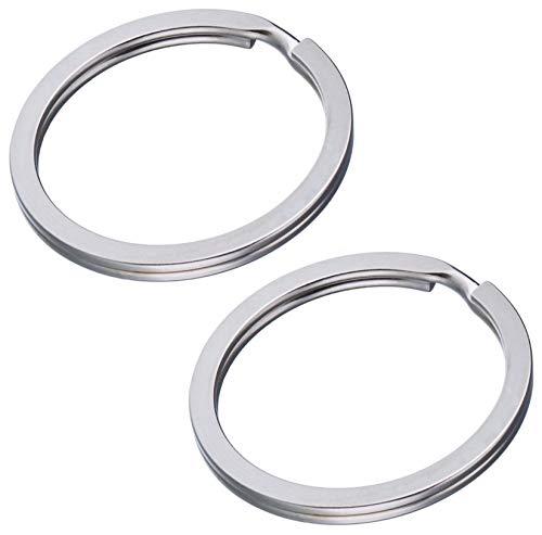 Lot de 200 anneaux porte-clés Acier Plat Anneaux Ø 30 mm en acier trempé & plat Ressort (Extra puissant) Anneaux en métal Convient pour ruban de clé & Porte-clés Star Line®