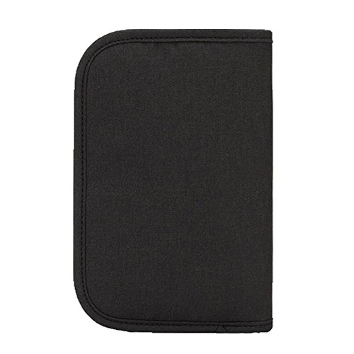Ohmais Unisex Tasche Multifunktions -Pass Mappenbeutel -Rechnungen Dokumentenablage Taschen schwarz