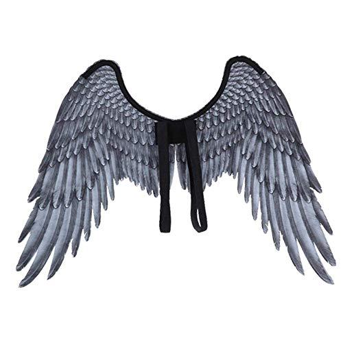 Kinder Angel Wings - Ogquaton Engelsflügel Kinder weiß grau Feder