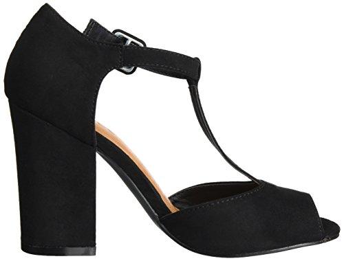 Bianco Damen Open Shoe with Lace 35-49239 Mary Jane Halbschuhe Schwarz (Black)