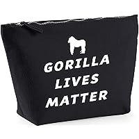 Hippowarehouse Gorilla Lives Matter printed make up cosmetic wash bag 18x19x9cm