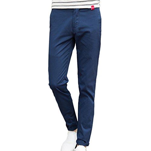 Xinwcang Herren Slim Fit Cargohose Freizeithosen Relaxed Chino Hose Bermudas Pants mit Gummizug Strandhosen Blau 33