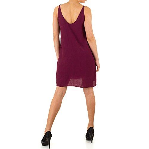 Damen Kleid, ELEGANTES PARTY COCKTAILKLEID , KL-L298 Weinrot
