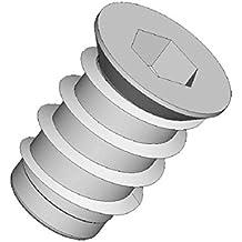 10Stück Einschraubmutter mit Schlitz DIN 7965 M6-10x12mm verzinkt
