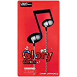 Glory Series Ubon (GGL-31A) Champ Audio Bass In Ear Earphone/Headphone Wired Headset With Mic (White, In The Ear)