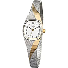 Regent de mujer reloj de pulsera elegante analógico de acero inoxidable Pulsera de plata (Oro