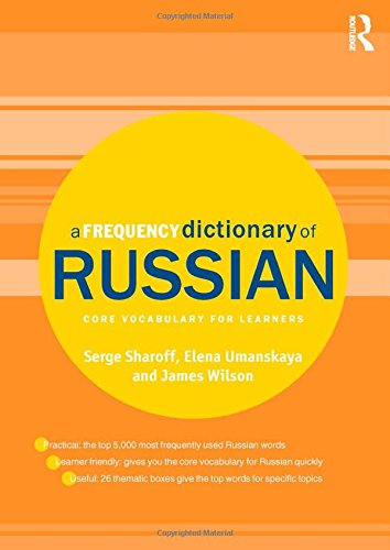 eBooks Amazon A Frequency Dictionary of Russian: core vocabulary for learners (Routledge Frequency Dictionaries) FB2
