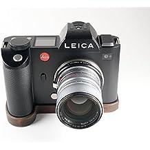 A mano, impugnatura della fotocamera protezione pavimento per Leica SL (Typ 601) | Camera Grip Piastra di base in legno di noce massiccio peruanischem | Fotocamera protezione pavimento di J.B. Camera Design USA | Colore: Marrone (Legno)