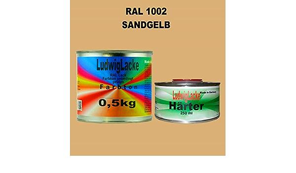 Ral 1002 Sandgelb Acryllack 0 75 Kg Matt Mit Härter Auto
