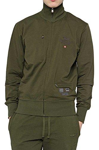 Aeronautica Militare Herren Sweatjacke Voller Reißverschluss Cf_am-hs9003 grün (Military Green)