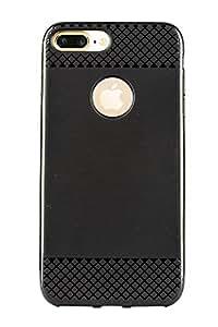 "Purple Eyes Luxury Black Silicon Back Case forApple iPhone 7 Plus (5.5"") Updown Checks Black"