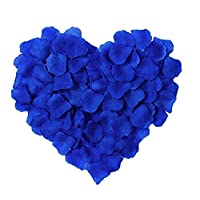 Pack of 1000 Silk Rose Petals, Artificial Flowers for Decoration Wedding Party Wedding Odorless Flowers Petals Favors for you special wedding (Royal Blue)