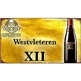 Easy Painter Plaque Murale rétro en métal pour café, Magasin de Fer, Tableau de Bar, décoration d'intérieur - Westvleteren XII Bière 30 x 20 cm