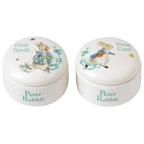 Curl Keramik (Beatrix Potter A25866 Peter Rabbit Tooth Curl Box, Keramik, Multi, 5.5 x 0.55000000000000004 x 0.35 cm)