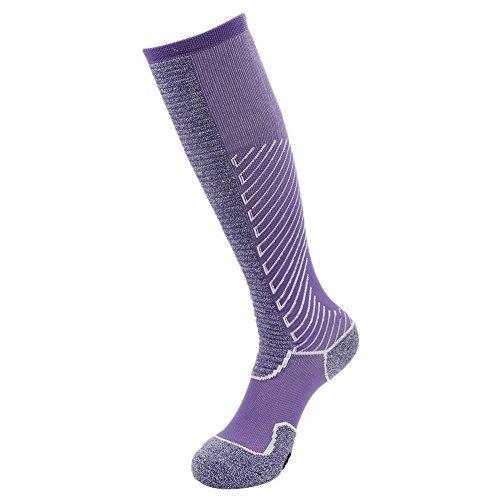 Gmark Kniestrümpfe Stutzenstrumpf Sportsocken Fußball Rugby Basketball Baseball Socken für Damen,lila 1 Paar