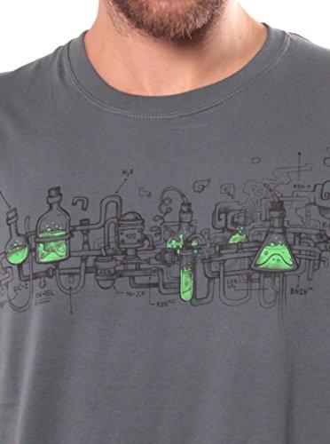 Herren T-Shirt mit Test This Aufdruck - handgefertigt durch Siebdruck auf 100% Baumwolle - Street Habit Grau