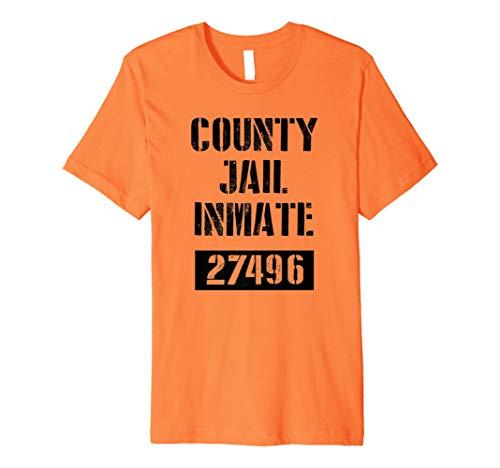 Häftling Shirt Kostüm - County Jail Inmate Gefangene Kostüm T-Shirt