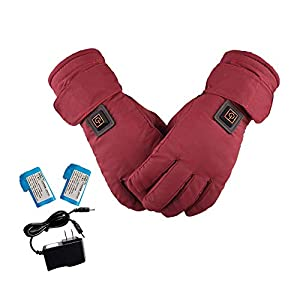 41 up3qpgfL. SS300  - Ridecle Motorcycling Heated Gloves,Unisex Electric Heating Thermal Warm Ski Gloves for Fishing, Skiing, Snow Plowing, and Walking