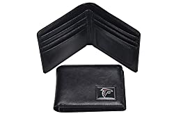 NFL Atlanta Falcons Men's Leather RFiD Safe Travel Wallet, 4.25 x 3.25