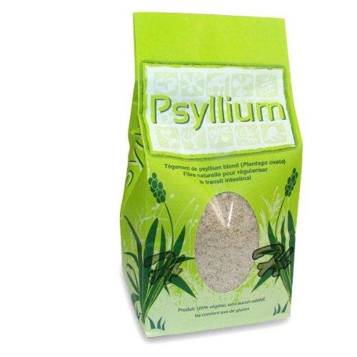 Tégument de Psyllium blond en poudre 300 g. 100 % végétal sans aucun additif