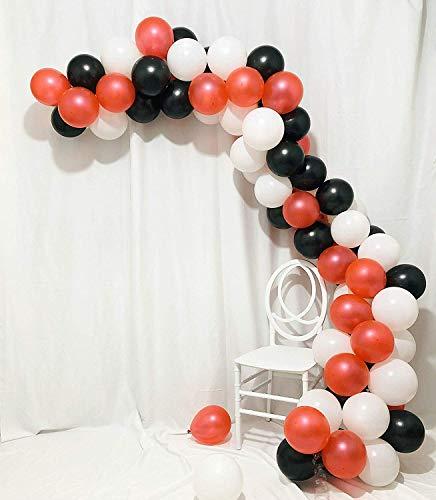 Ballonbogen & Girlande-Set | Glücklicher Valentinstag Luftballons Blumenstrauß Perle Rot Schwarz und Weiß Latex Partydekorationen für Abschlussfeier Geburtstag Hochzeit Brautdusche Jubiläum 102 Pack -