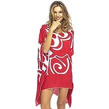 Diseño de Bali para mujer Loose Vestido de playa corta Bañador encubrir caftán.
