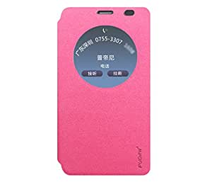 Pudini Goldsand Series Leather Flip Cover Stand Case for Asus Zenfone 2 Laser ZE550KL (5.5 Inch) - Sparkling Pink