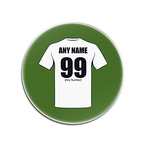 unigift Personalisiertes Geschenk-Derby County Glas Rund Untersetzer (Football Club Design Thema, Farbe Optionen)-Alle Nachricht/Name auf Ihre Einzigartige-Die Rams -