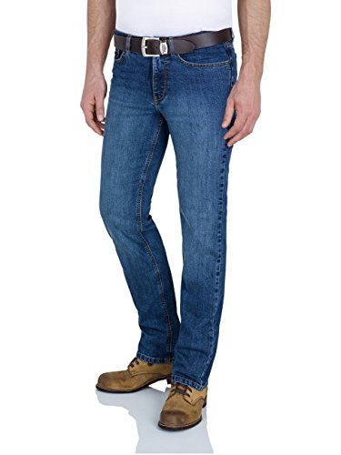 Paddock`s Herren Jeans Ranger - Slim Fit - Blau - Dark Blue Stone Blue Medium Stone Used (5921)