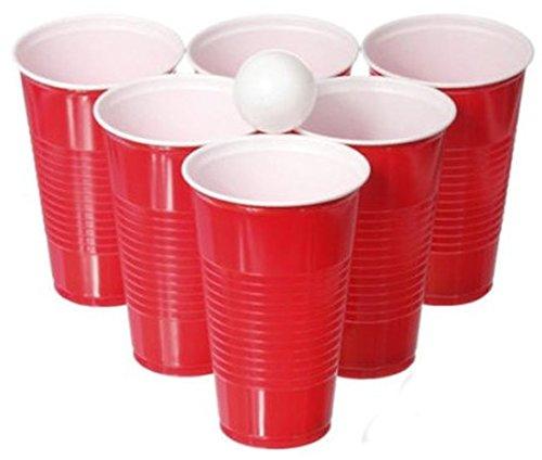 CBK-MS. Trinkspiel Beer Pong 15 Bällen 22 Trinkbecher Party Spiel Saufspiel Bier Saufen