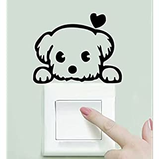 2pcs Pet Light Switch Funny Wall Decal Vinyl Sticker