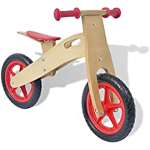 vidaXL Bicicleta de balance madera roja