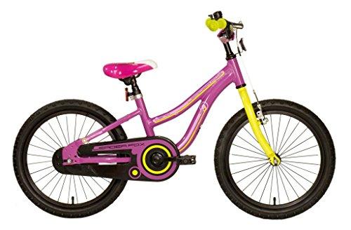 "18"" Zoll leichtes Aluminium Kinderrad Fahrrad LEADER FOX Keno violet lila MTB Bike"