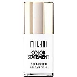 Milani Color Statement Nail Lacquer, 28 Spotlight White, .34 fl oz.