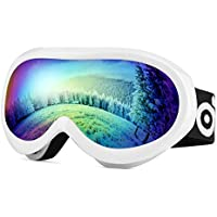 667e879287 ODOLAND Gafas de esquí para jóvenes, Gafas de Snowboard para Edades de 8 a  16