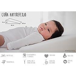 Cuña Antireflujo bebe | Almohada inclinada para cólicos (desenfundable) by Mimuselina