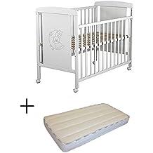 Cuna para bebé, modelo Oso Dormilón + Colchón Viscoelástica + edredón y chichonera (sonatina de regalo)